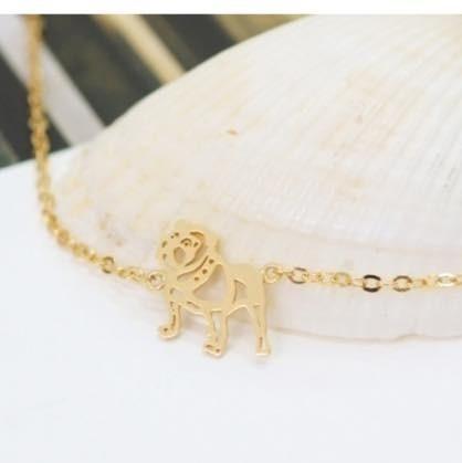 pulseira buldogue dourada