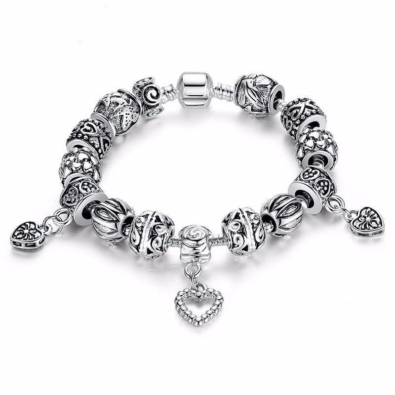 5dabed7fa89 pulseira c  berloques prata de lei 925 estilo pandora vivara. Carregando  zoom.