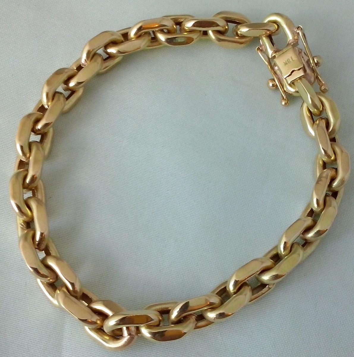 e8f48ce1fdf pulseira cadeado em ouro 18 k 750. Carregando zoom.