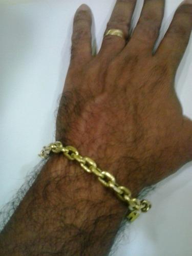 pulseira cadeado em ouro 18 k 750