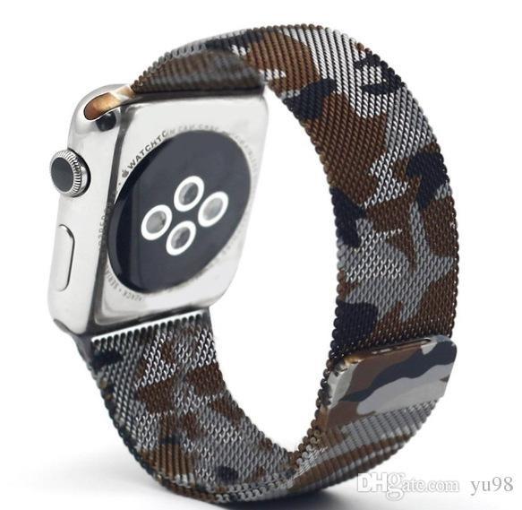 adf02c865ae Pulseira Camulflada Metalica Apple Watch 1 2 3 4 Milanese - R  79