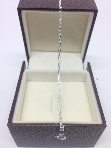 pulseira cartie cadeado italiana 3mm em prata 925