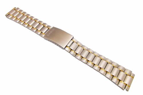pulseira casio abx-70 original aço c/ dourado 20mm p relogio