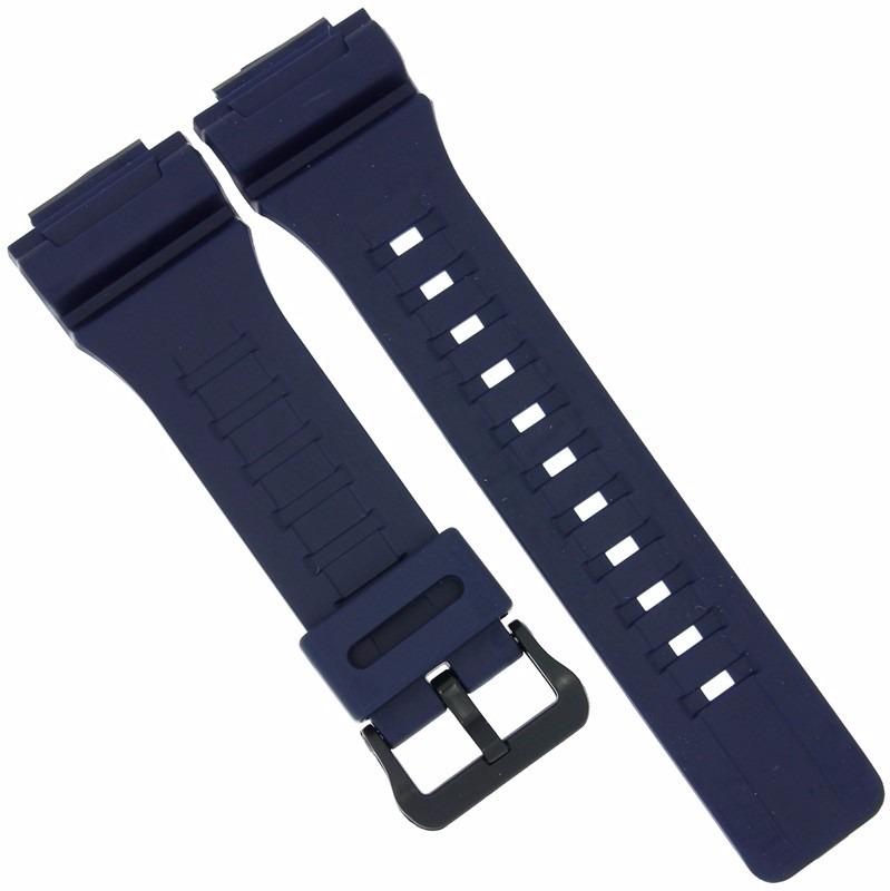fffca12c4d5 Pulseira Casio Aq-s810 W-735h Aeq-110 Azul P  Relogio Touch - R  90 ...