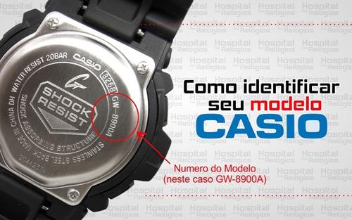 pulseira casio chr-100 phys original casio preto c/ azul