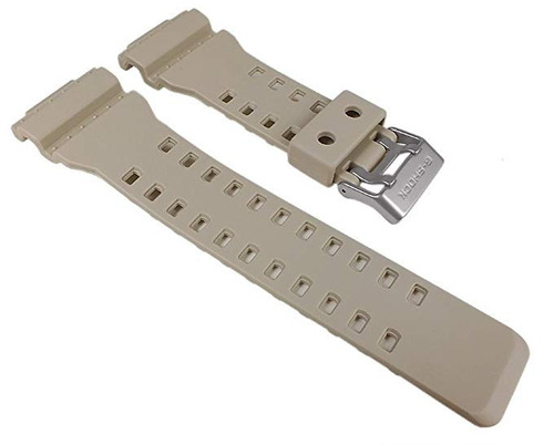 pulseira casio g-shock ga-100sd bege original ga-110 ga-100
