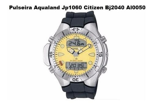 pulseira citizen aqualand jp1060 bj2040 original borracha