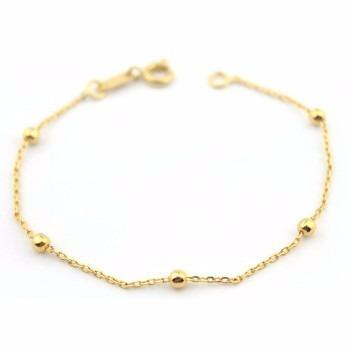 pulseira com 5 bolinhas folheada a ouro 18k - super delicada