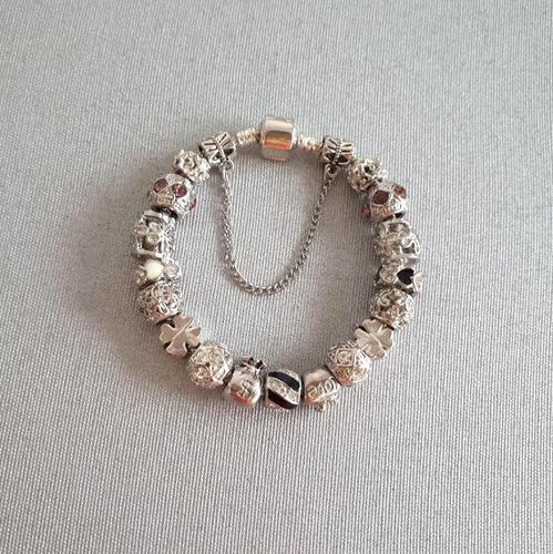 pulseira com berloques completa pulseira de charms pandoar