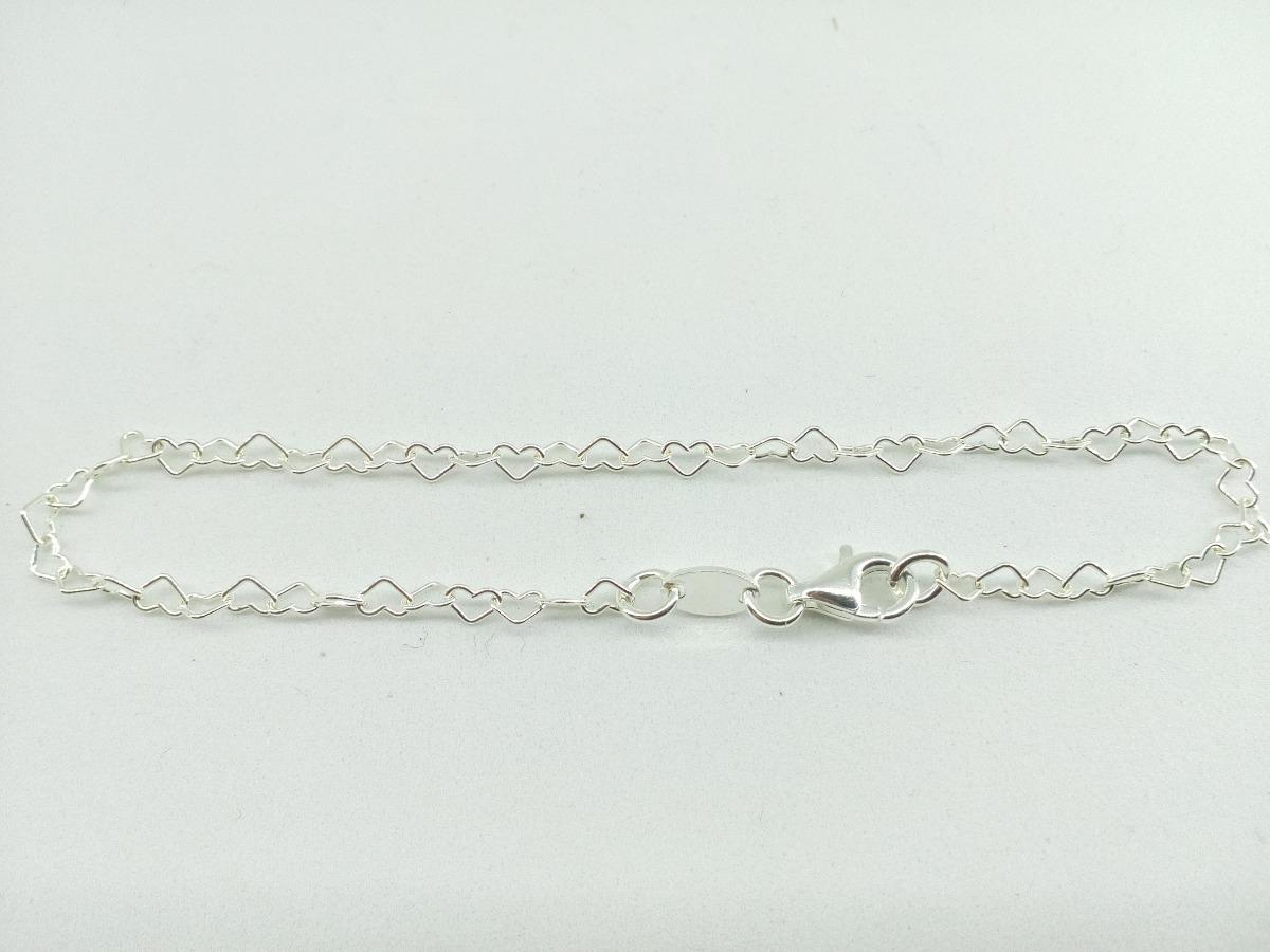 6a63c41d053 pulseira coração prata 925. Carregando zoom.