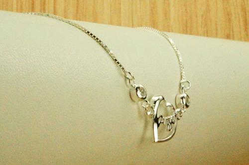 pulseira coração zicornias (l2,5) prata 925