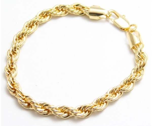 Pulseira Cordão Baiano 18cm De Ouro 18k 750 - Pronta Entrega - R ... 46b776bd1e
