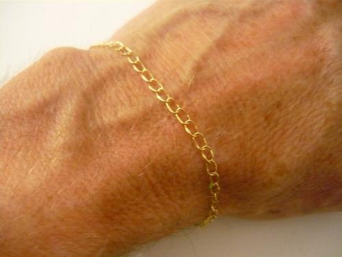 pulseira correntinha masculino ou feminino elos 2x4