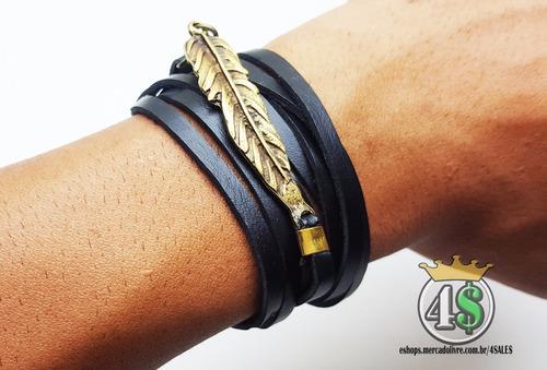 pulseira couro bracelete
