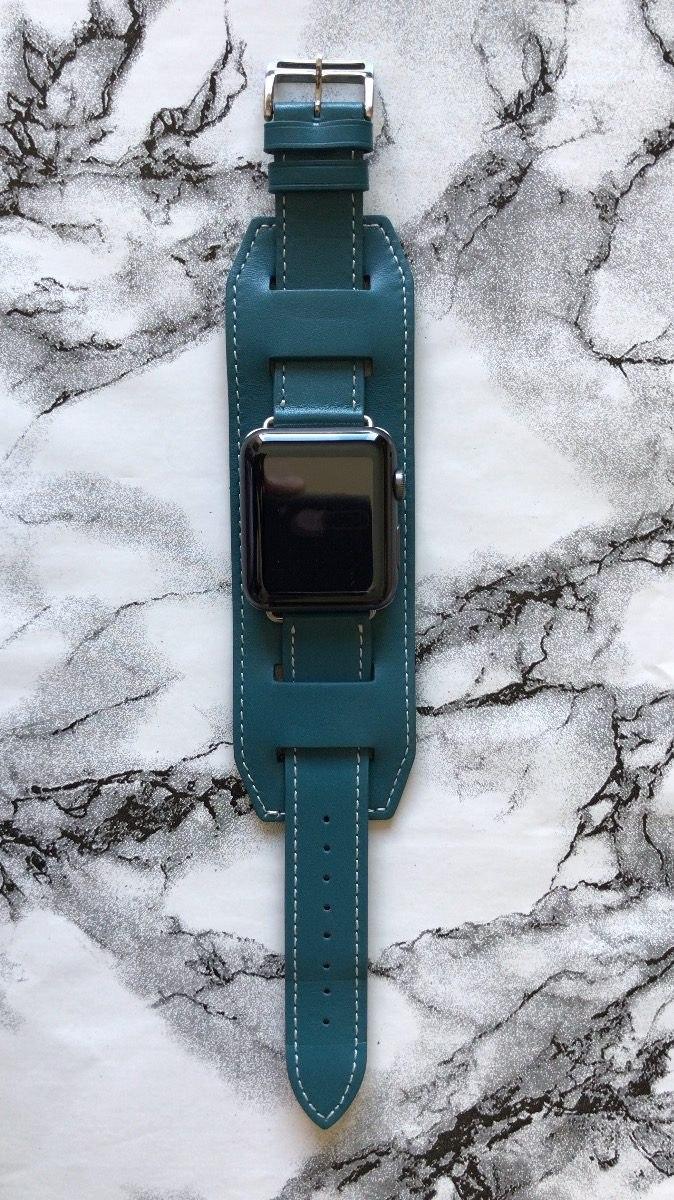 42a19e3b15d pulseira couro bracelete cuff apple watch hermes 38mm 42mm. Carregando zoom.