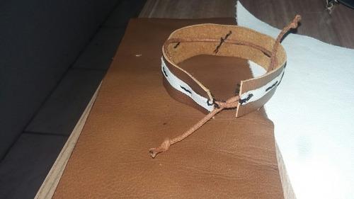 pulseira couro de aviaçao