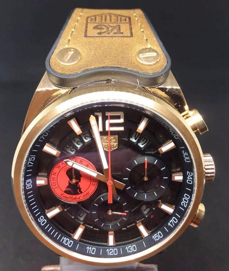 e4a113cf00e Pulseira Couro Do Relógio Masculino John Walker - R  110