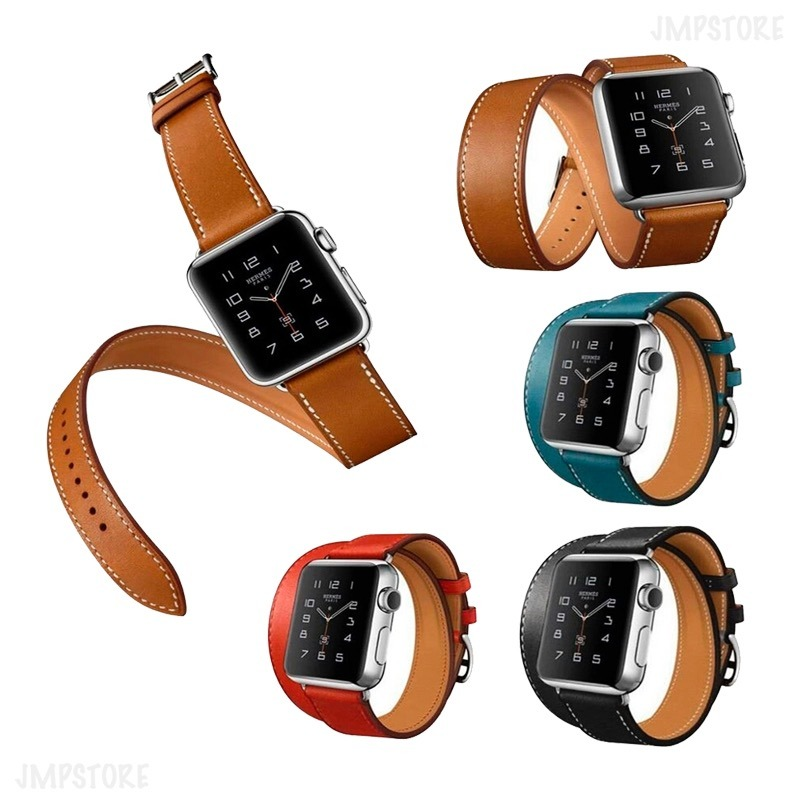 8190be4f102 pulseira couro double tour herme p  apple watch 44mm. Carregando zoom.