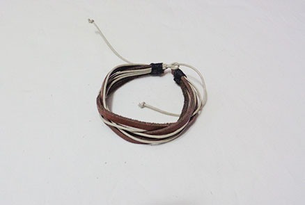 pulseira couro natural 7 fios moderna  unissex
