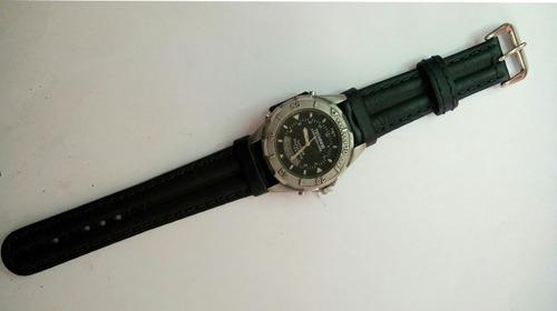 pulseira couro p relógio technos t205ix 20mm tm frete grátis