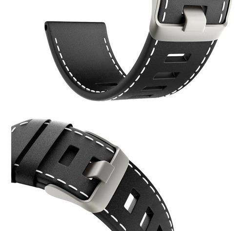 pulseira couro para relógio garmin fenix 5x - frete grátis