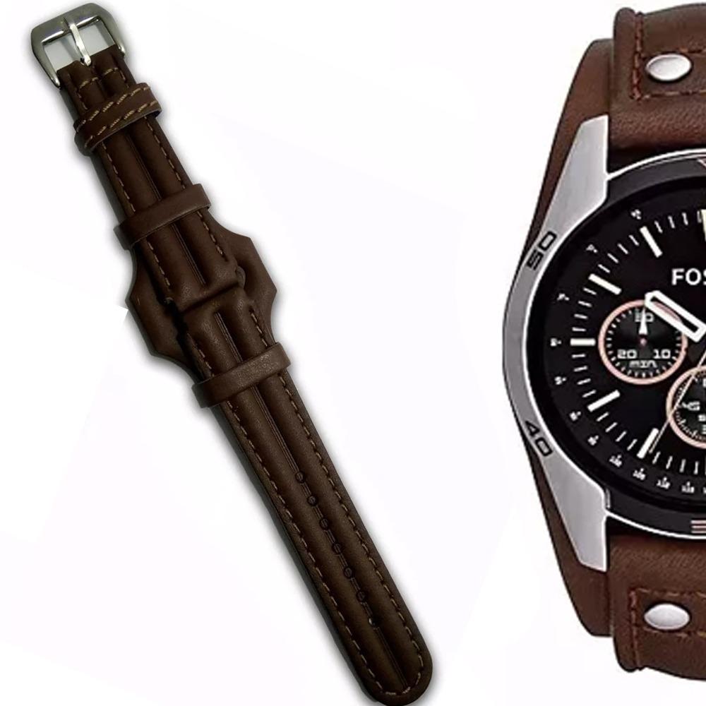 ad094cec3c9 pulseira couro relógio fossil ch2891 tm 20mm frete 9 reais. Carregando zoom.