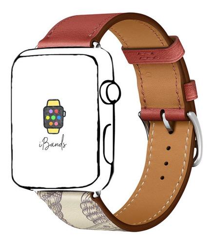 pulseira couro simple tour brique apple watch 38mm 40mm