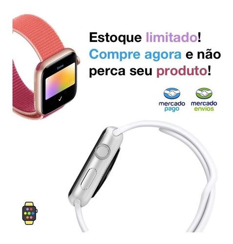pulseira couro simple tour indigo craie apple watch 38 40mm