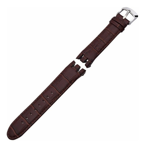 pulseira couro swatch retrograde yrs 21mm yrs403 irony marro