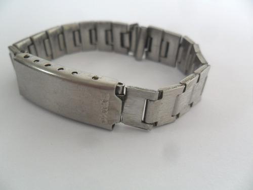 pulseira de aço antiga e original para relógio marca seiko
