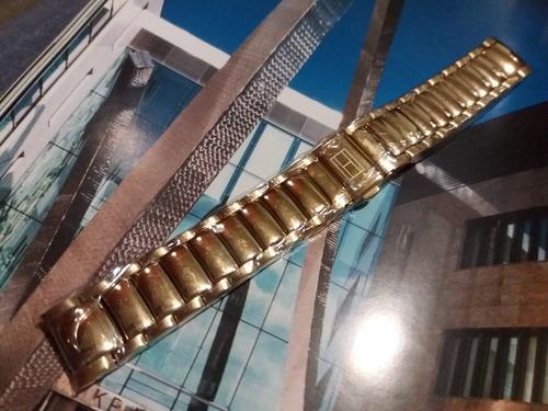 pulseira de aço dourado original - tommy hilfiger - 19mm