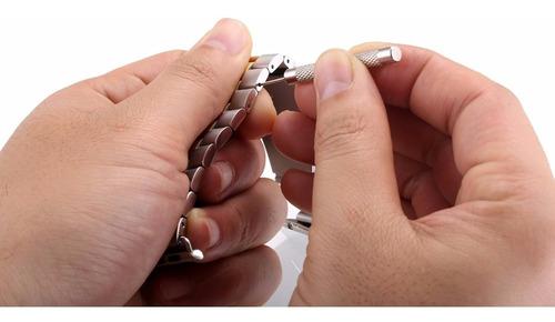 pulseira de aço inox luxo p/ apple watch 38/40mm - dourada