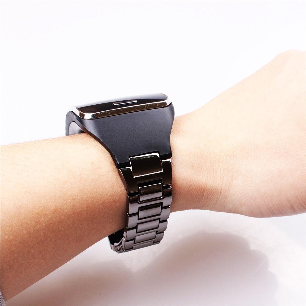 b5ca05b4086 pulseira de aço inoxidavél p  smartwatch samsung gear s r750. Carregando  zoom.