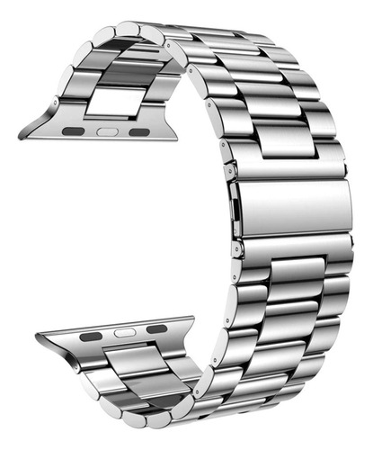 pulseira de aço nogap para apple watch 42/44mm - prata