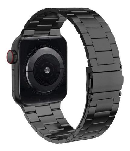pulseira de aço nogap para apple watch 42/44mm - preta