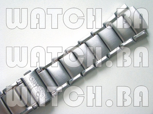 pulseira de aço orient mbss1112 mbss1113 - nova, original!