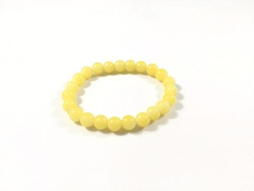 pulseira de bolinhas amarela - ref: p052