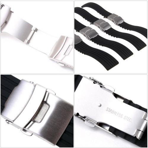 pulseira de borracha silicone 18mm