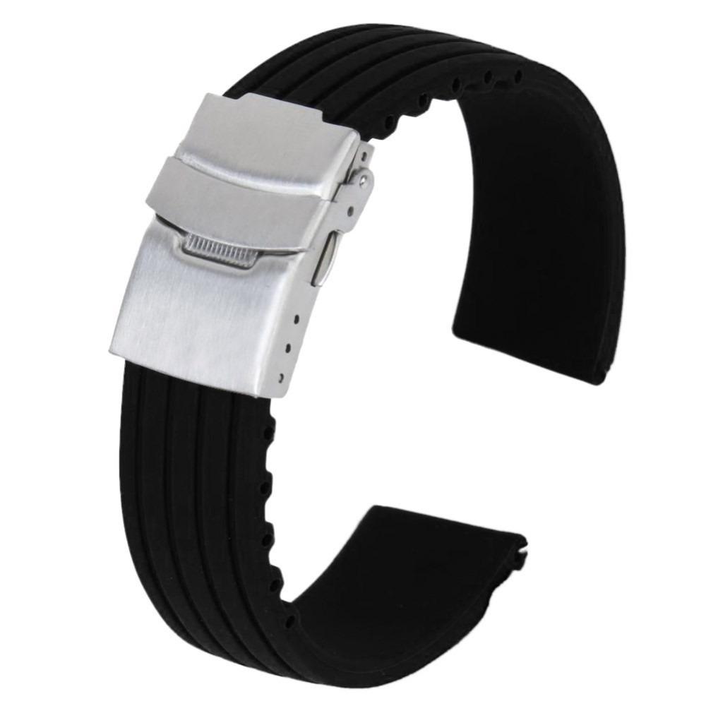 e834ac5331e pulseira de borracha silicone 22mm deployant -seiko citizen. Carregando  zoom.