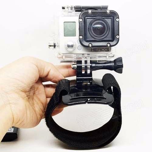 pulseira de braço rotação 360º + capa protetora go pro hero