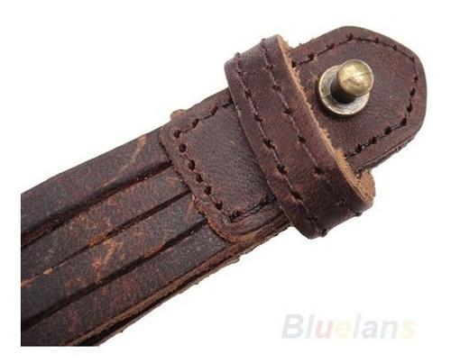 pulseira de  couro  bracelete masculina cor marrom