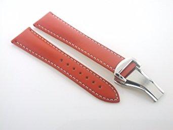 pulseira de couro com faixa de relógio de ajuste 20mm omega