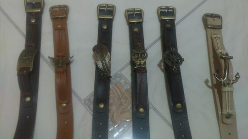 pulseira de couro linda feminina e masculina