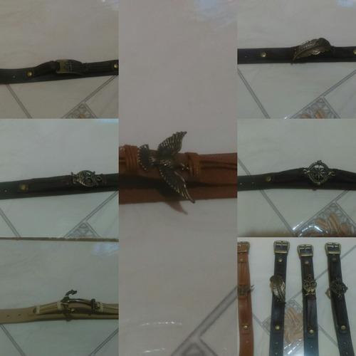 pulseira de couro linda feminina e masculina diversas cores