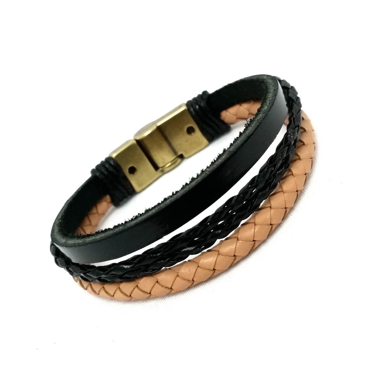 bfe927f99d0 pulseira de couro mix japão. Carregando zoom.