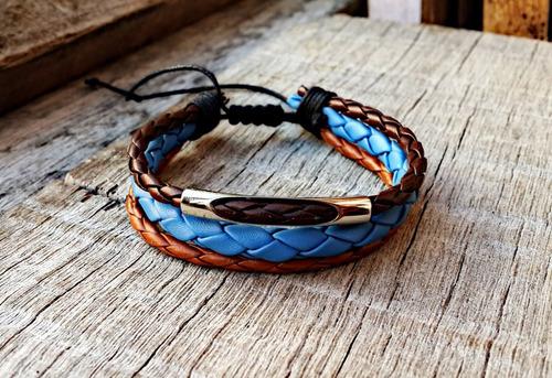 pulseira de couro osk