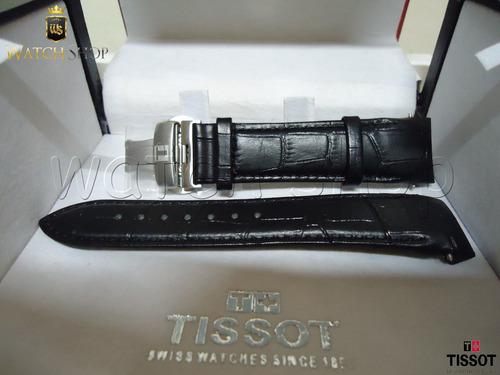 pulseira de couro tissot t035410a 22mm preto - original
