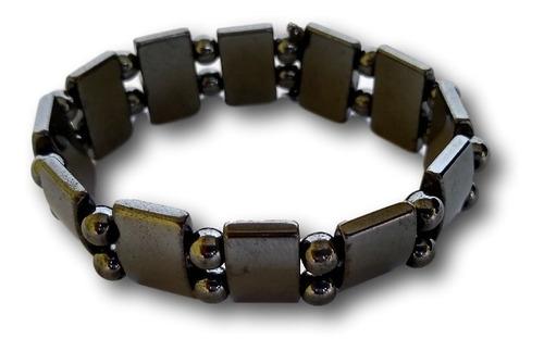 pulseira de hematita unissex bracelete ref: 7937