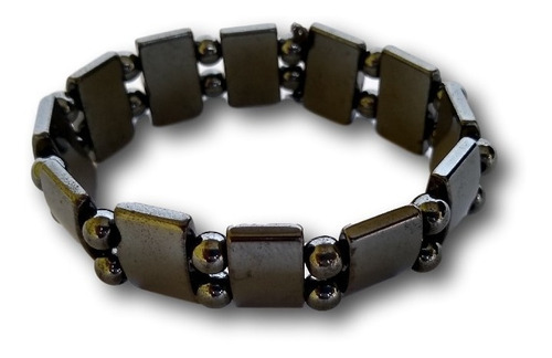 pulseira de hematita unissex bracelete ref: 7937 - dúzia