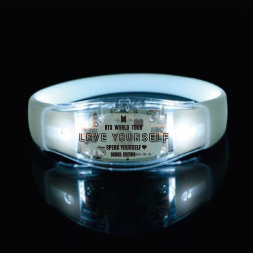pulseira de led ativada com som - bts love yourself  - 2 un